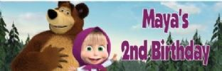 Masha and the Bear Chocolate Candy Bar Wrapper